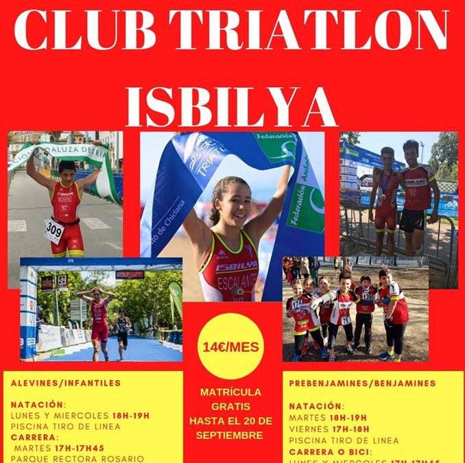 ESCUELA DE TRIATLÓN PARA MENORES CLUB TRIATLÓN ISBILYA-SLOPPY JOE´S