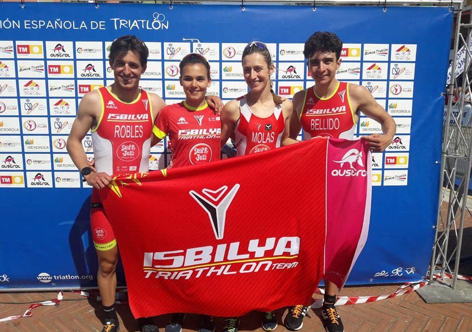 Histórico fin de semana: bronce en el Cpto de España de Relevos Mixtos y 5º posición en el Nacional de Clubs