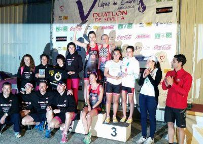 podium femenino